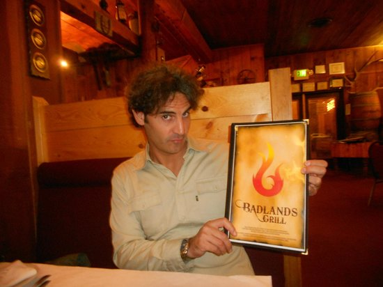 Badlands Grill : me and menu