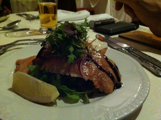 Columba House Hotel: smoked Trout