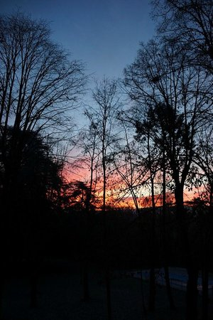 Manoir Tourieux: magnifique coucher de soleil
