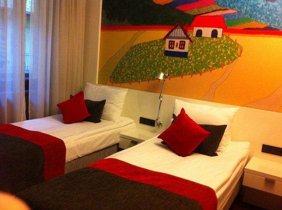 Bohem Art Hotel : Chambre lits simples