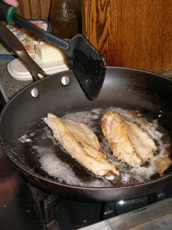 Henniker House: Guest fried up his catch for breakfast