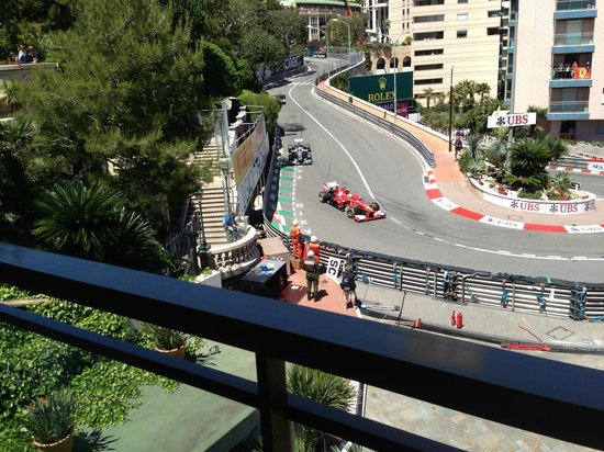 Fairmont Monte Carlo: GP from the balcony