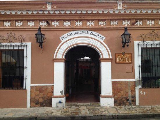 Diego De Mazariegos: l'entrée principale