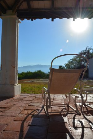 Estancia San Agustin: vue de la terrasse