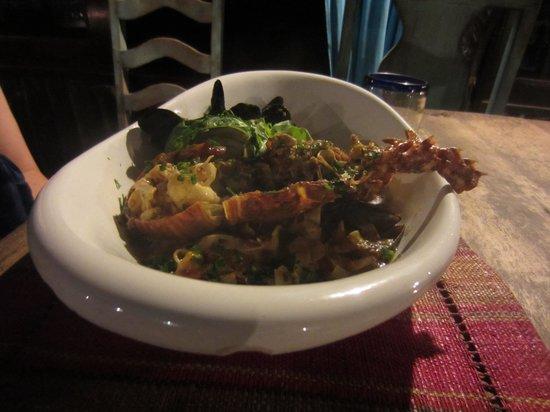 Tulum Hemingway Romantic Cabanas : House special hand made pasta with seafood