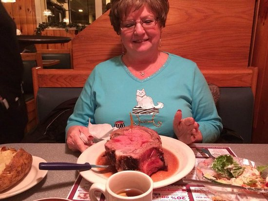 Bernie's Dining Depot: My mom, not nowing where to start on her REGULAR cut.