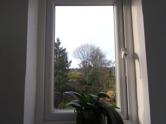 Rhodes Avenue Homestay B&B: The view from the bathroom.