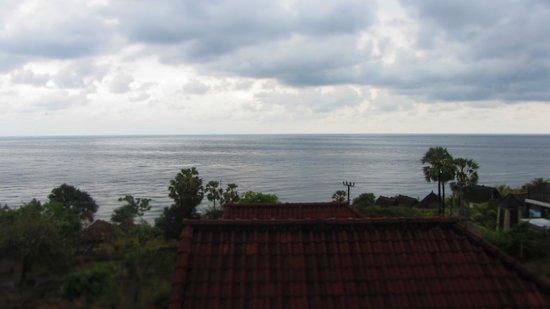 Barong Cafe Bungalow and Restaurant: вид на океан с балкона