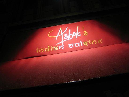 Ashok's Indian Restaurant: Ashok's welcome