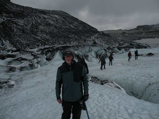 Gray Line Iceland: Solheimajokull glacier hike near south coast of Iceland: Dec 2013
