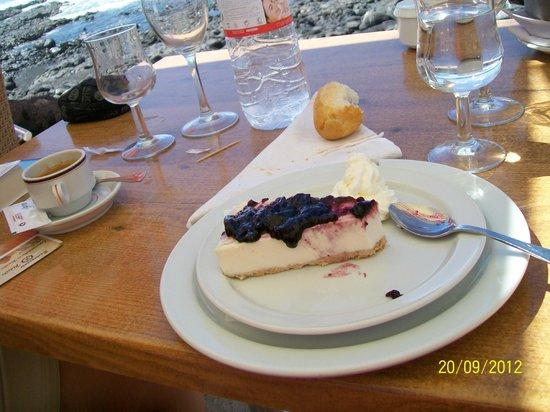 Restaurante La Gamba Loca : cheesecake  (formaggio di capra fresco)
