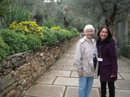 Ephesus Tours by OTTI Travel - Private Tours : Our guide (on the right) with me outside of the entrance to the House of the Virgin Mary
