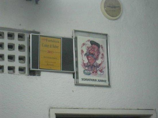 Sorveteria Juarez : Caricatura do proprietario...