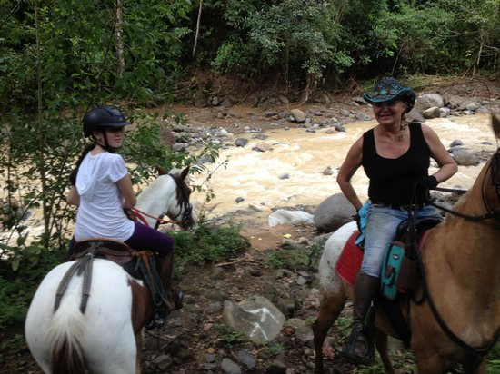 Finca Caballo Loco - Horse Tours Costa Rica: Krysia and a young rider