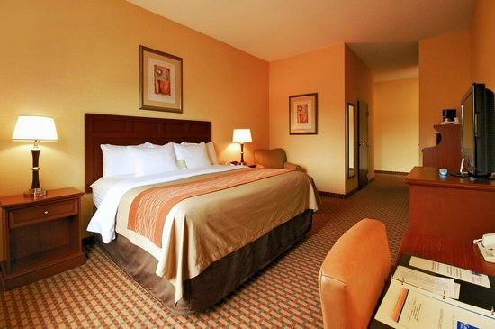 Comfort Inn & Suites: Second room of 2 ROOM suite ~ King bed
