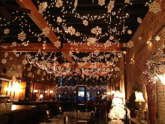 zinful panini grill wine bar christmas decorations on the ceiling - Christmas Ceiling Decorations