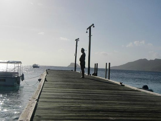 Palm Island Resort & Spa: Main Pier pointing towards Union Island
