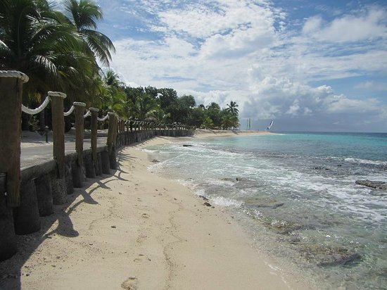 Palm Island Resort & Spa : View looking south along Palm Island
