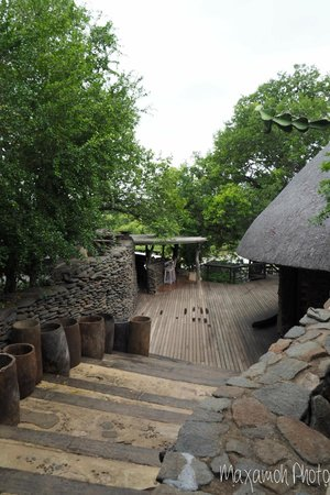 Singita Boulders Lodge: Pool Bar and Staircase