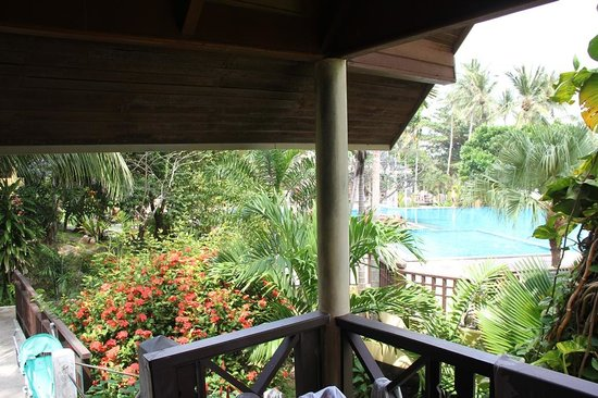 New Star Beach Resort: View from the balcony of the cottage #402