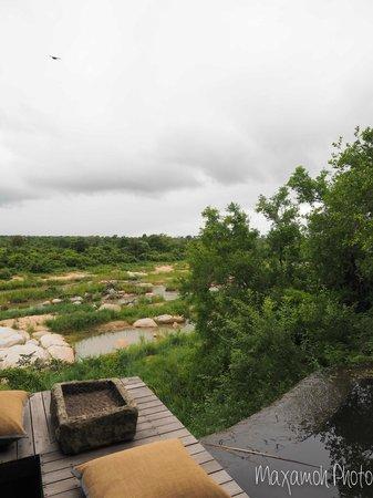 Singita Boulders Lodge: View from Lodge