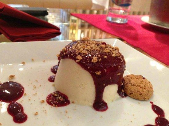 White chocolate semifreddo with wild berries sauce - Picture of ...