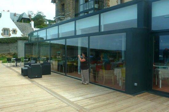 Hotel Restaurant Ker Mor: Perros-Guirec: Francia: vetrata ristorante