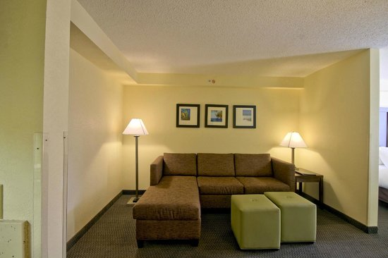 Comfort Suites Weston  - Sawgrass Mills South : Living Area with Pull Out Sofa
