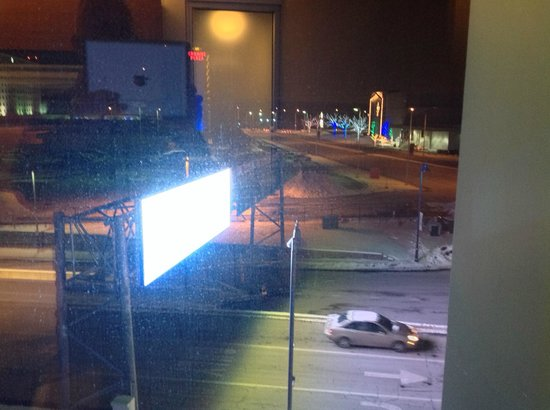Aloft Chicago O'Hare: View from room 453 - thankfully the blinds are opaque!