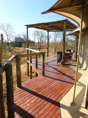 The Elephant Camp: Terrasse der Tented Suite