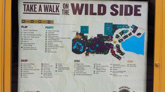 Seminole Hard Rock Hotel Hollywood : Map of resort