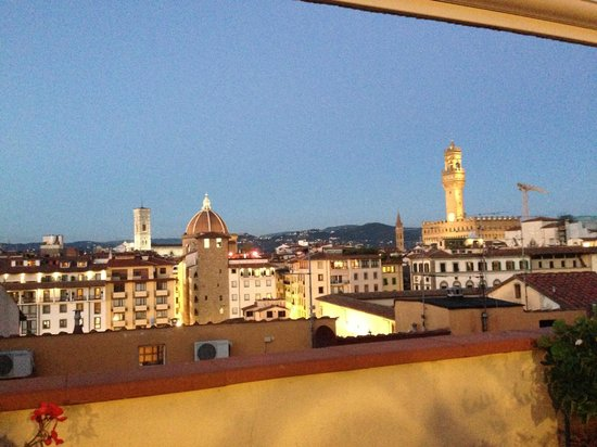 Pitti Palace al Ponte Vecchio : view from the rooftop terrace