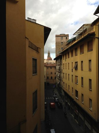 Pitti Palace al Ponte Vecchio: View from our room.  Very LOUD!  Dumpsters crashing and banging all night!