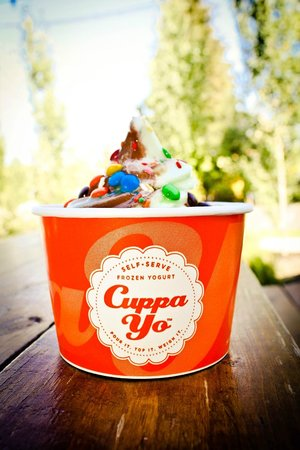Cuppa Yo: So many options, look for the bright orange cups