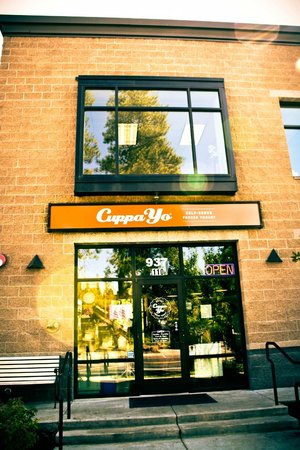 Cuppa Yo: Building and signage