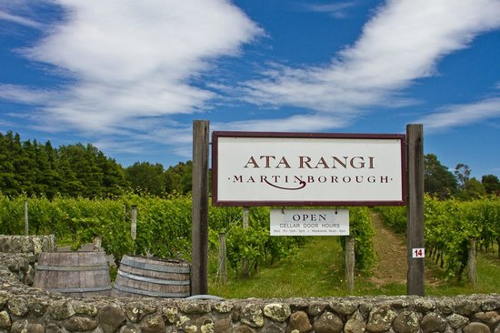 Ata Rangi Martinborough: The entrance to Ata Rangi Vineyard & Winery, Martinborough, New Zealand
