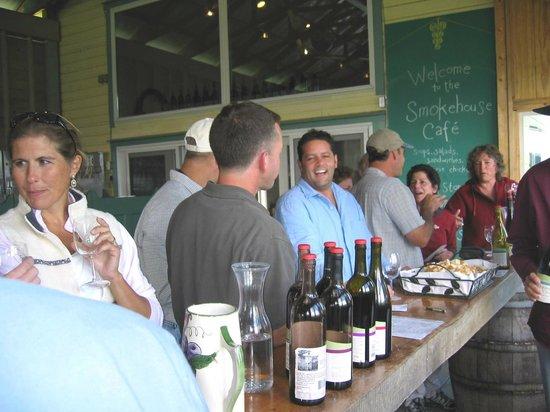 Quality Wine Tours : Quality Wine Tour group on Cayuga Lake Wine Trail 2013