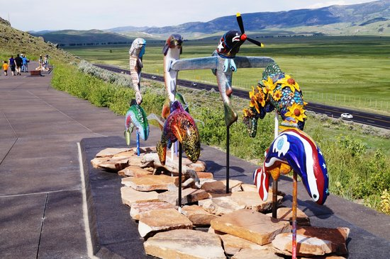 National Museum of Wildlife Art: Colorful Sculpture Trail