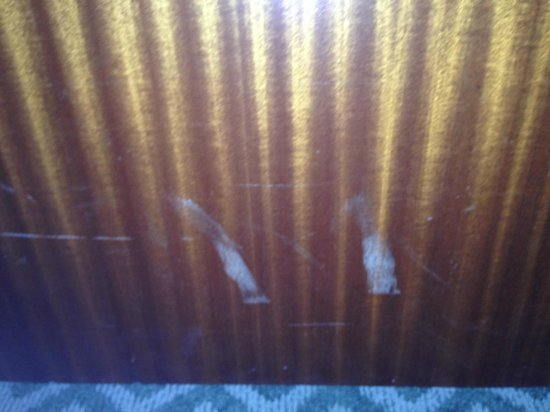 The Lexington New York City, Autograph Collection: Picture of my hotel room door after some drunk tried to kick it in.
