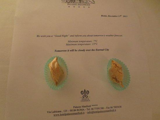 Palazzo Manfredi - Relais & Chateaux : Turndown