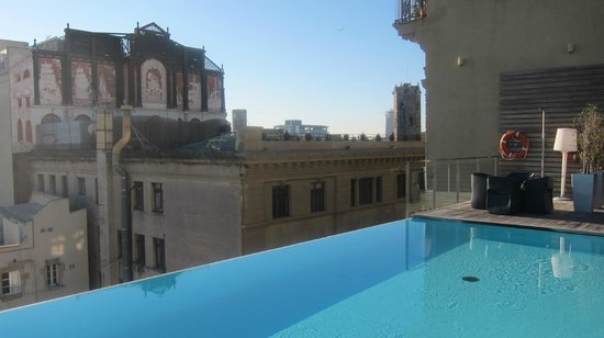 Grand Hotel Central : The view from the rooftop pool is panoramic - this is only one side of it