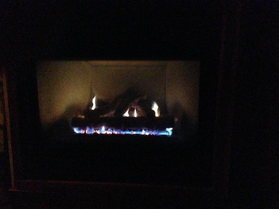 Blacksmith Inn On the Shore: In room fireplace