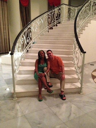 Iberostar Grand Hotel Rose Hall : Us on the Grand Staircase