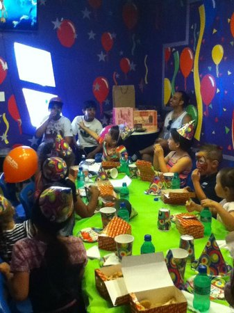 Rainbow's End Theme Park : This is my little daughter's Birthday at Rainbows End in The Incredible Room