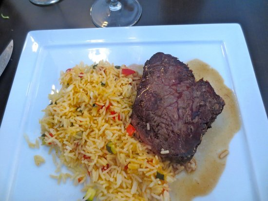 Variations: My steak and rice.  Very delicious