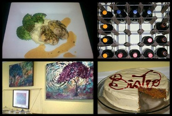 Bay Street Bistro: Get your fill of dinner, desserts, wine and loca art!