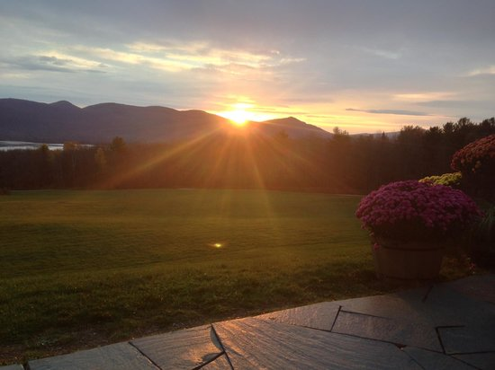 The Mountain Top Inn & Resort : The beautiful view as we enjoyed our morning coffee!