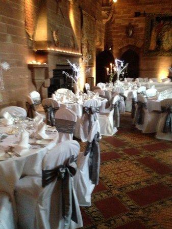 Peckforton Castle : Wedding breakfast great hall