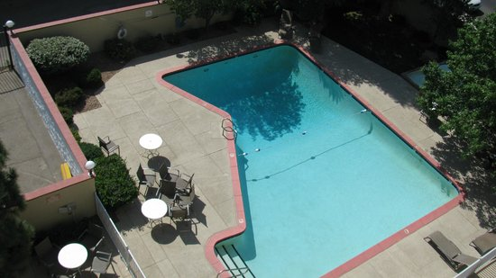 The Hotel Blue: View of pool from 6th floor