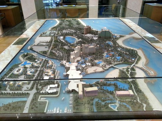 Aquaventure Water Park at Atlantis Paradise Island: Maquete do Resort